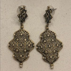 Kendra Scott Renee Earrings in Antique Brass
